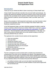 chatham-kent ontario health team full application