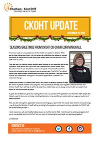 CKOHT Update - December 9, 2019