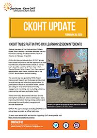 CKOHT Update - February 28, 2020