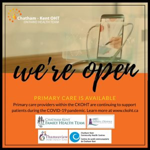 Primary care is open during COVID-19